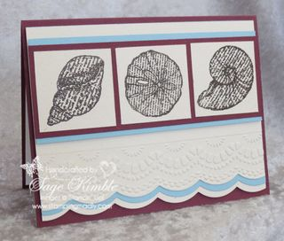 By the Seashore Card for Mad Stampers Club
