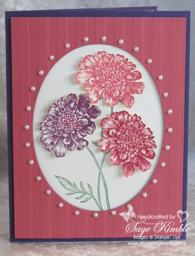 Mad Stampers Club handmade card using Field Flowers stamp set